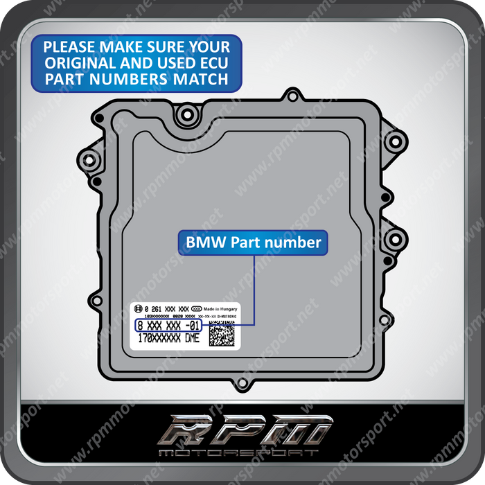 BMW F-Series N20 N26 N55 S63N S55 Engine Used DME Programming