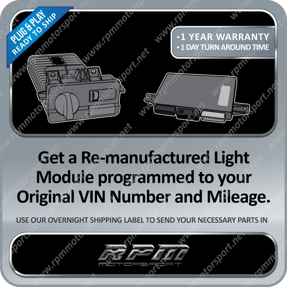 BMW E39 E38 X5 Remanufactured Ready to Go LCM's (Light Module)