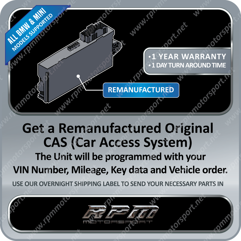BMW / MINI Cooper Re-manufactured CAS 3 CAS3+ (Car Access System)