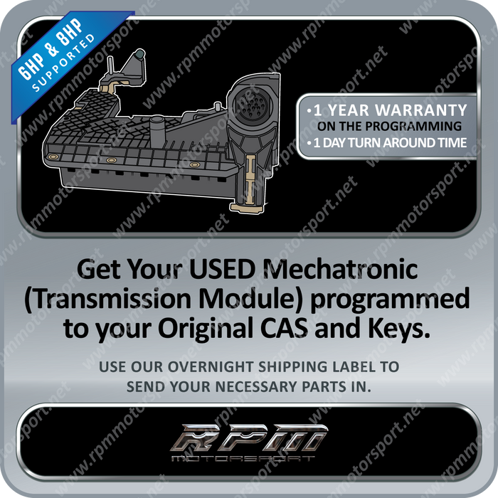 BMW GA6HP26Z or GA6HP19Z F01 F02 7 Series Mechatronic Gearbox USED EGS TCU programming service 6HP