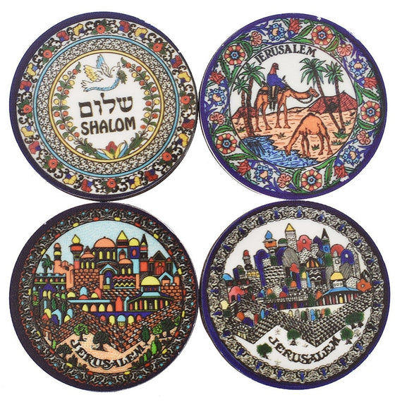 Lychee Jerusalem Round Fridge Magnets Acrylic Camel Refrigerator Sticker Travel Souvenir Home Kitchen Decoration | Shop Latest Jewelry Accessories | Judelry.com