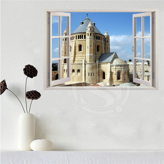 Custom canvas poster Jerusalem in the window poster cloth fabric wall poster print Silk Fabric SQ0626 | Shop Latest Jewelry Accessories | Judelry.com