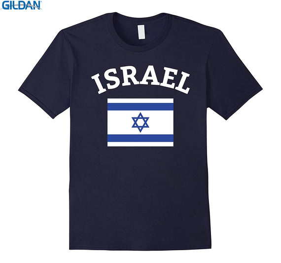 GILDAN 100% Cotton O-neck custom printed T-shirt Israel Israeli Flag Jerusalem Jersey T-Shirt | Shop Latest Jewelry Accessories | Judelry.com