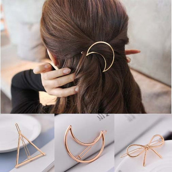 Metal Hair Pins, Moon, Triangle and more shapes - Jewelry Hair Clip | Shop Latest Jewelry Accessories | Judelry.com