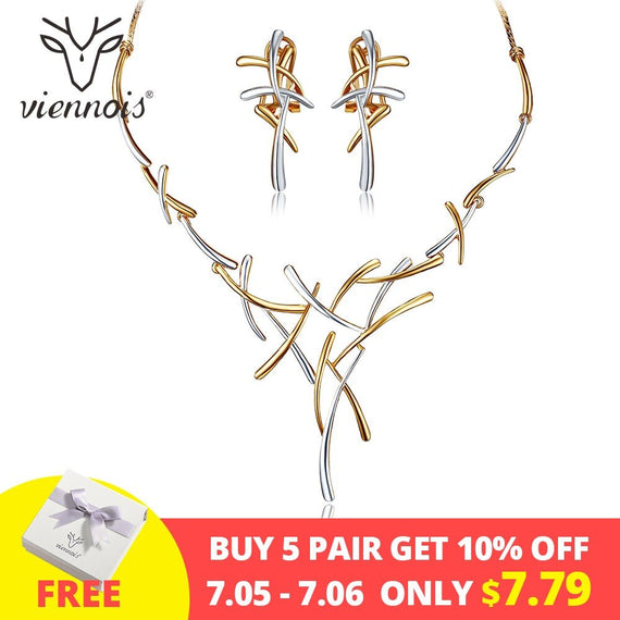 Viennois Necklace and Earrings set, 2019 model | Shop Latest Jewelry Accessories | Judelry.com