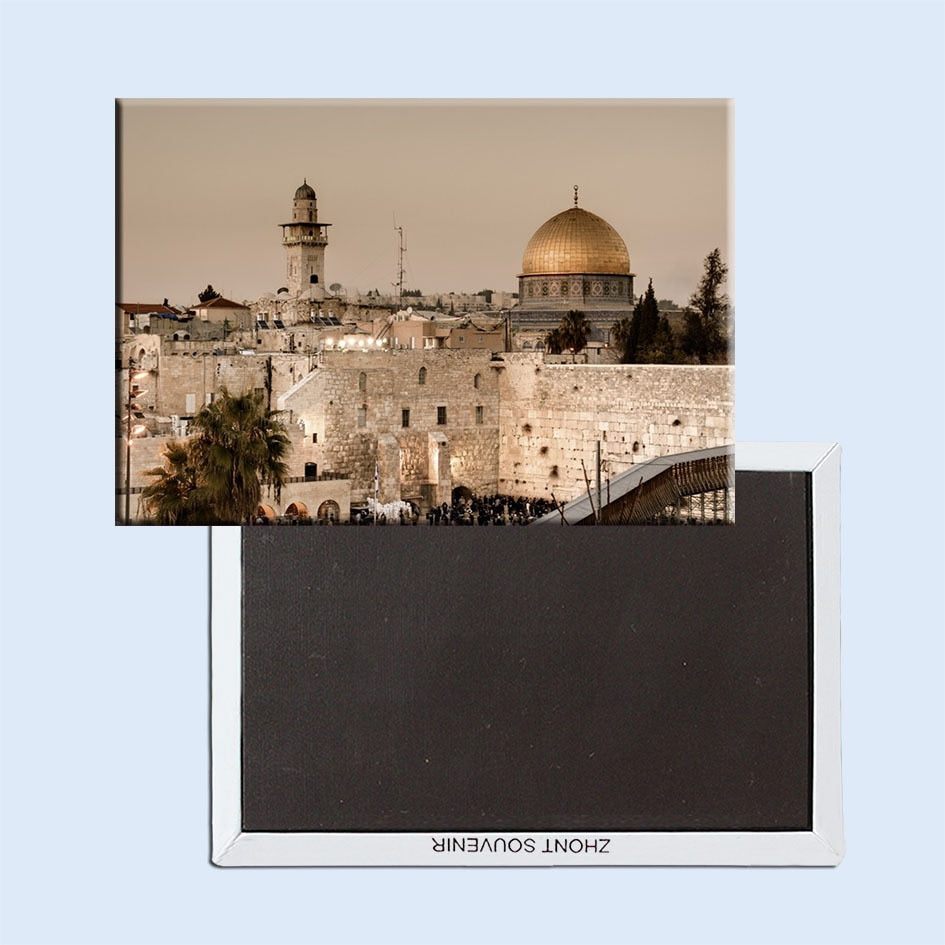 Rectangle Rigid Magnets , Jerusalem Israel Rectangle Metal Fridge Magnet 5519 Tourism Souvenir | Shop Latest Jewelry Accessories | Judelry.com
