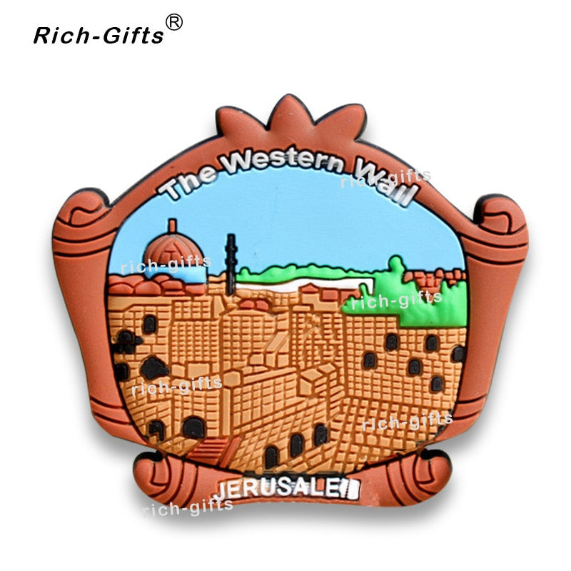 OEM/ODM Customized Promotional Gifts With Your Logo Decoration Soft Rubber Fridge Magnets Souvenir Jerusalem MOQ1000PCS (RC-IL) | Shop Latest Jewelry Accessories | Judelry.com