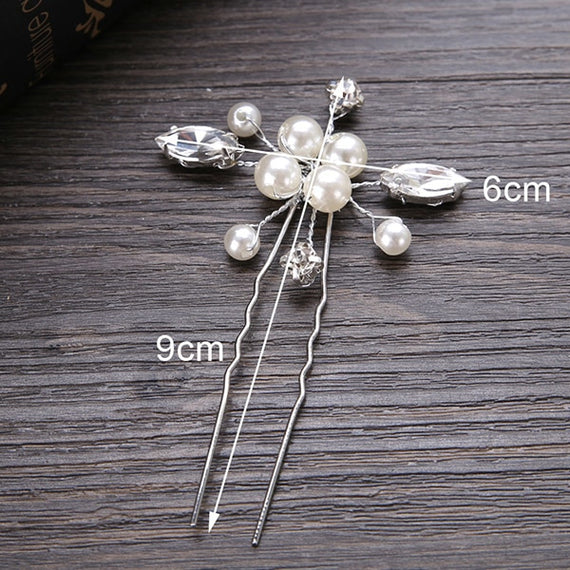 Crystal Pearl Hair pins - Elegant Wedding Style | Shop Latest Jewelry Accessories | Judelry.com