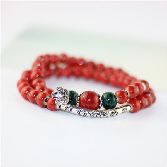 Women Bracelets Flower Charm Ceramic Bracelet & Bangles Fashion Accessories | Shop Latest Jewelry Accessories | Judelry.com