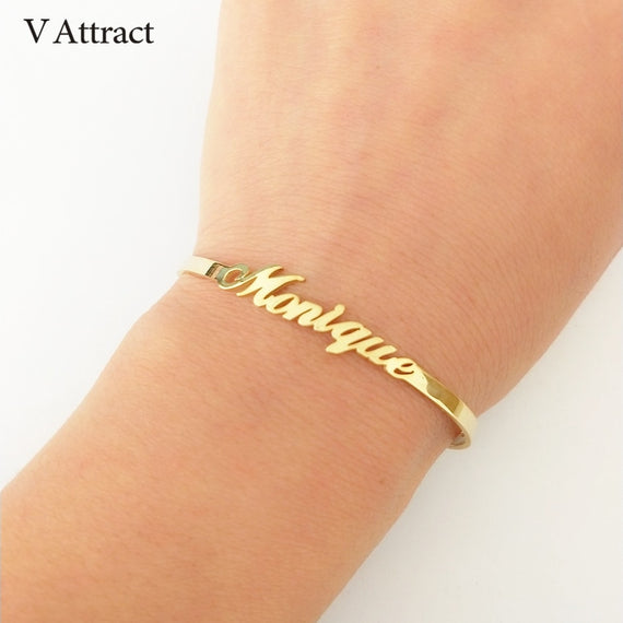 Custom Name Bracelet, Gold Bangles Design | Shop Latest Jewelry Accessories | Judelry.com