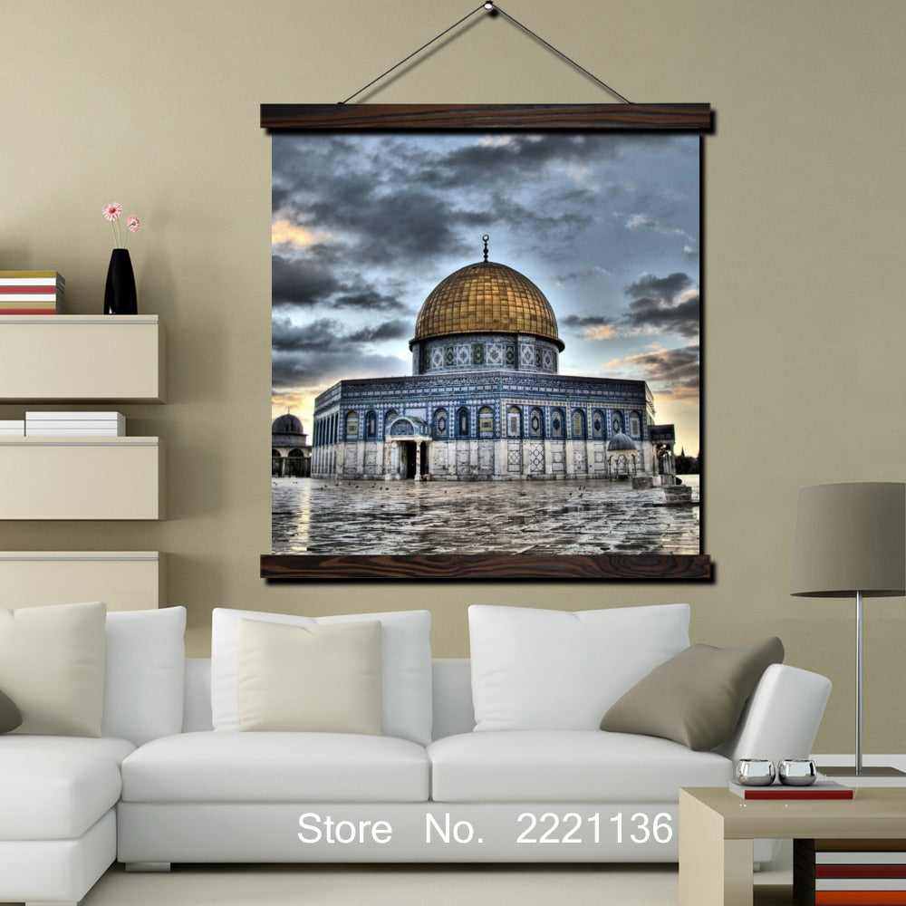 Jerusalem The Dome wallpaper HD Print Scroll Paintings Wall Art Printed Hanging Framed Canvas Painting Modern Home Decoration | Shop Latest Jewelry Accessories | Judelry.com