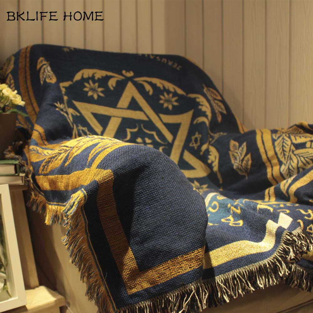 Multifunction Cotton Rug Israel Flag Pattern | Shop Latest Jewelry Accessories | Judelry.com