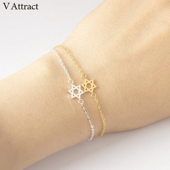 V Attract 2018 Stainless Steel Chain Pulseras Vintage Mujer Jerusalem Magen Star Of David Charm Bracelet Femme Jewish Jewelry | Shop Latest Jewelry Accessories | Judelry.com
