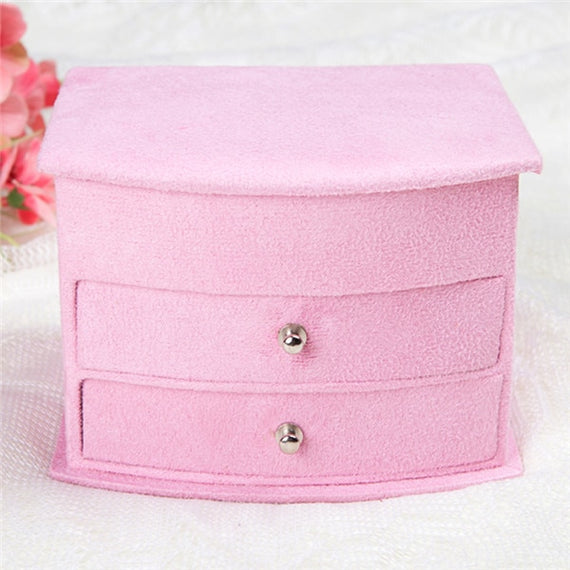 Hot Selling High Quality Velvet Three Layers Portable Multi-functional Necklace Rings  Jewelry Boxes Fashion Design Gifts Box | Shop Latest Jewelry Accessories | Judelry.com