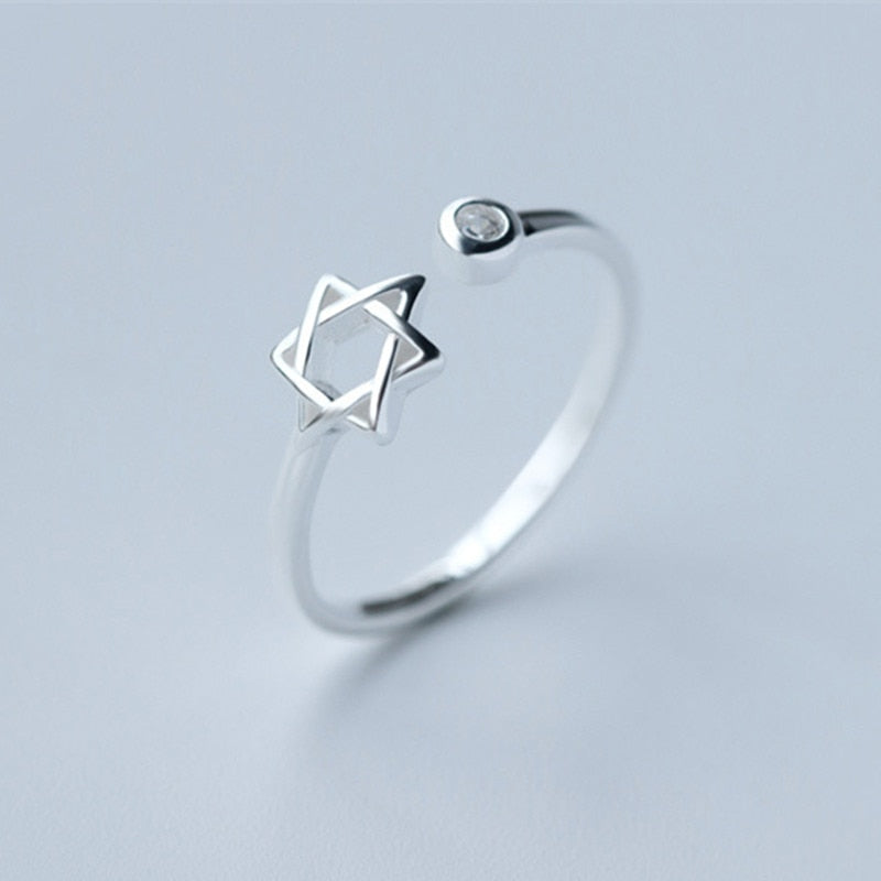 Wholesale- 10pcs 2015 New Star of David Magen Hebrew Shield Open Adjustable 925 Silver Ring | Jewish Star Symbol Jewelry Gift | Shop Latest Jewelry Accessories | Judelry.com