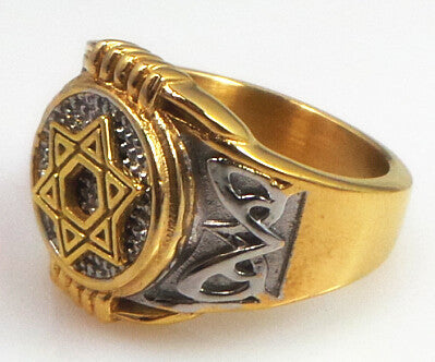 Pentagram Punk Biker Ring for Men | Shop Latest Jewelry Accessories | Judelry.com