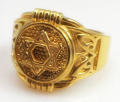 Pentagram Punk Biker Ring for Men