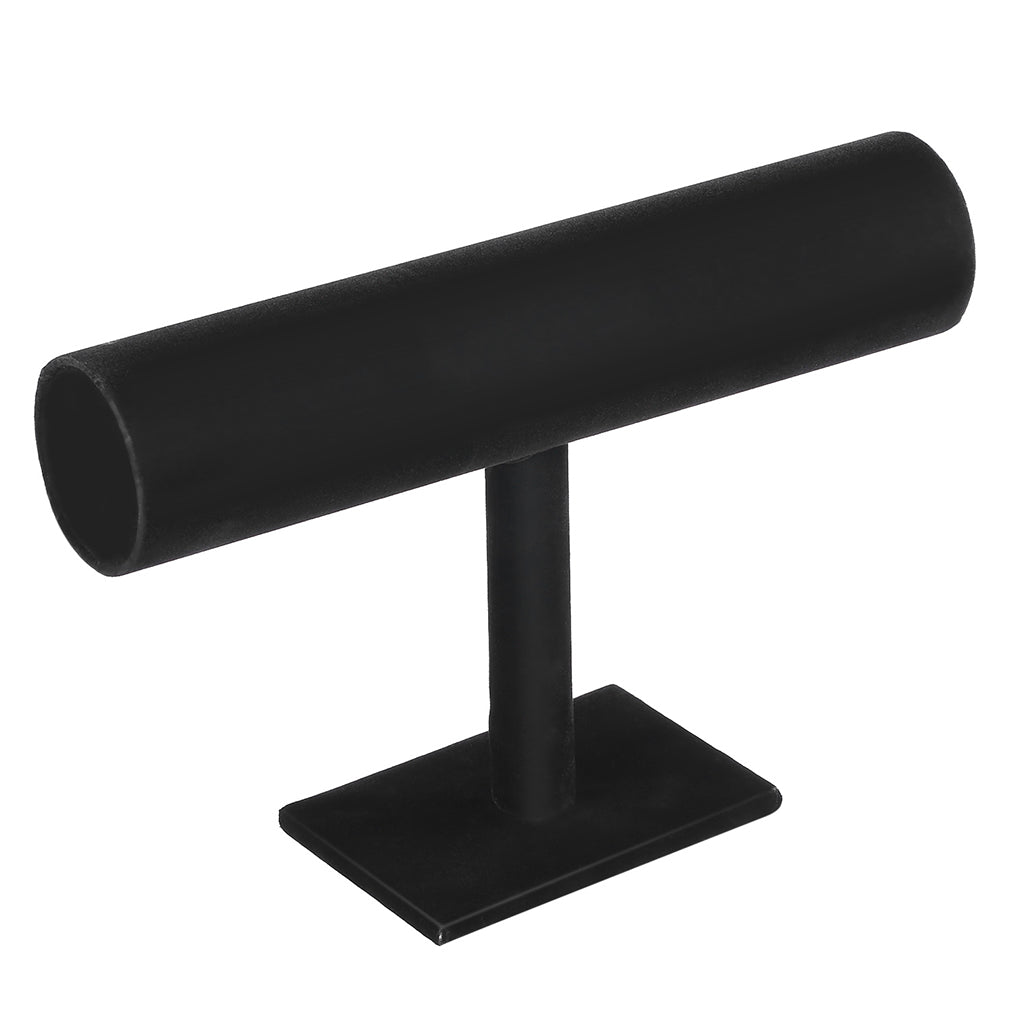 Black Velvet/Leather T Bar Stand Organizer | Shop Latest Jewelry Accessories | Judelry.com