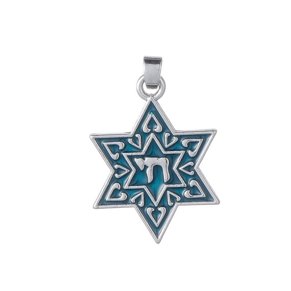 Enamel Religious Charms Chai Necklace Pendant | Shop Latest Jewelry Accessories | Judelry.com
