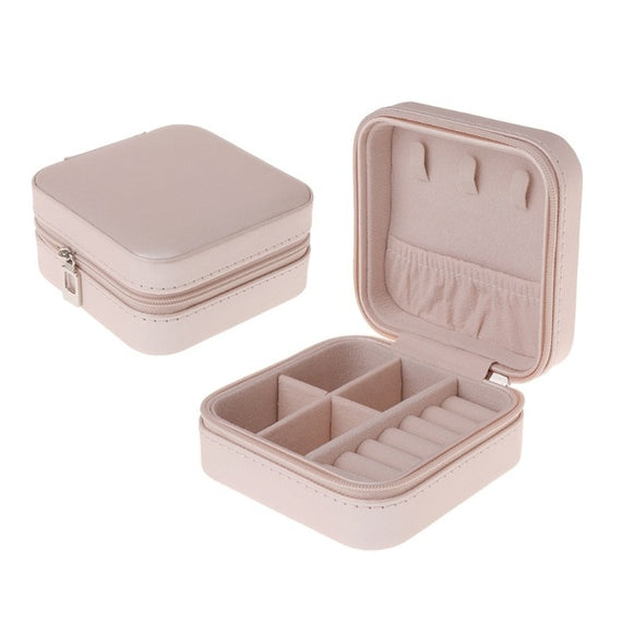 Jewelry Box Portable Storage Organizer Zipper Portable Women Display Travel Case | Shop Latest Jewelry Accessories | Judelry.com