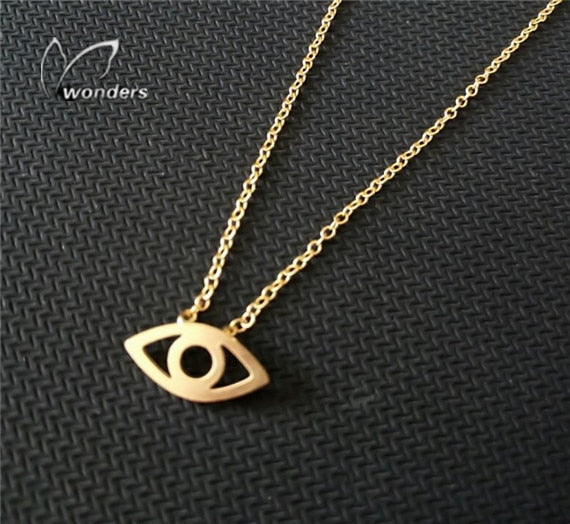 GORGEOUS TALE Jewish Jewelry Collier Stainless Steel Chain Choker Bijoux Femme Choker Necklaces Women Lucky Evil Eye Necklace | Shop Latest Jewelry Accessories | Judelry.com