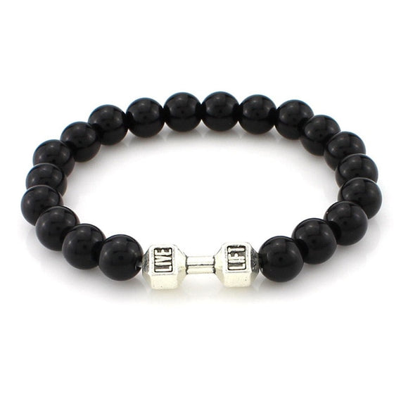 Men's Energy Barbell Bracelets Silver Gold Dumbell Jewelry | Shop Latest Jewelry Accessories | Judelry.com