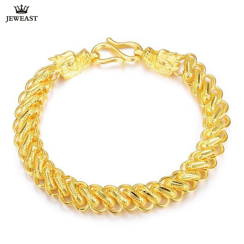 24K Pure Gold Bracelet Real 999 Solid Gold Bangle Generous Rich Men's Faucet Ouch Trendy Classic Fine Jewelry Hot Sell New 2018 | Shop Latest Jewelry Accessories | Judelry.com