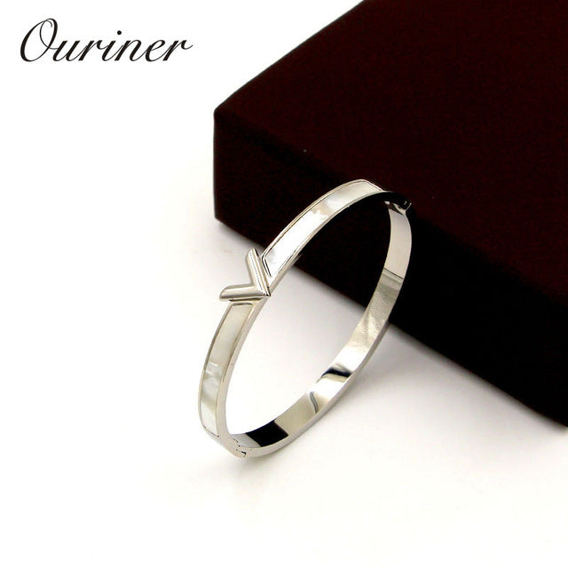 V Shape Bracelet & Bangle For Women Men Charm