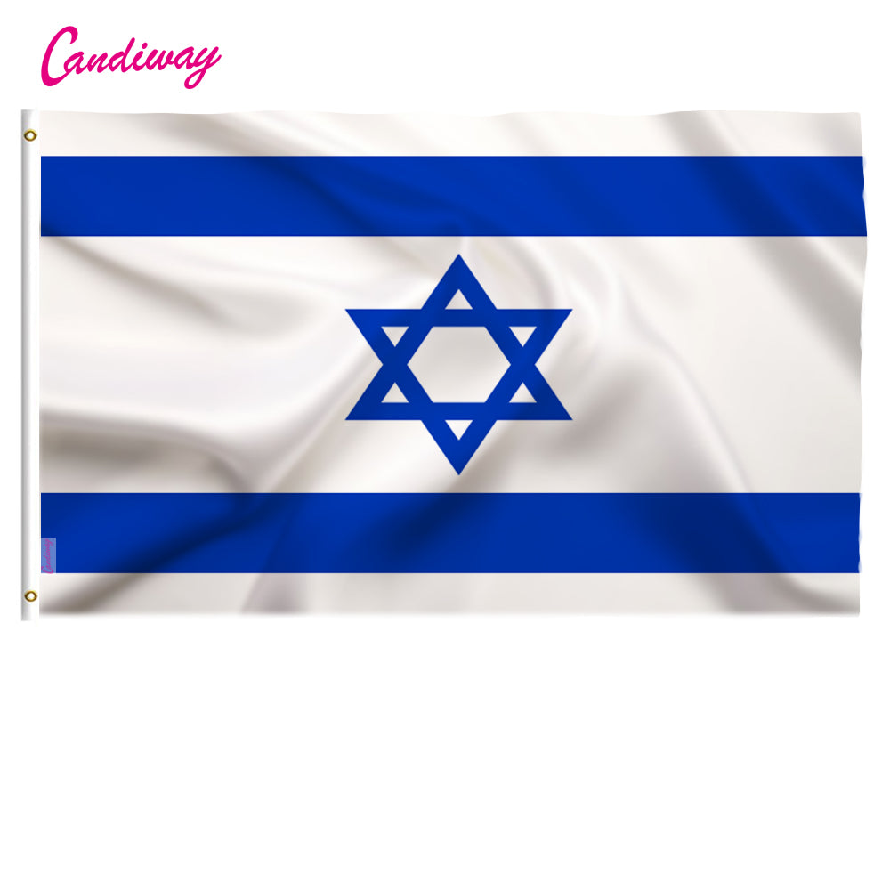 Israel flag 3*5 feet. polyester flag.90*150cm big banners Israeli flag ,Isreal flag banner | Shop Latest Jewelry Accessories | Judelry.com
