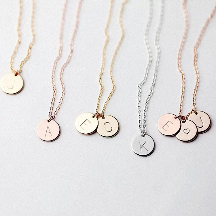 DIY Tiny Gold Initial Necklace Gold Silver Letter Necklace Initials Name Necklaces Pendant for Women Girls Best Birthday Gift | Shop Latest Jewelry Accessories | Judelry.com