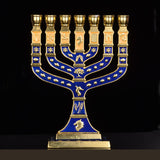 Hanukkah Menorah Jewish Judaica Israel Vintage Brass Chanukah Displays | Shop Latest Jewelry Accessories | Judelry.com