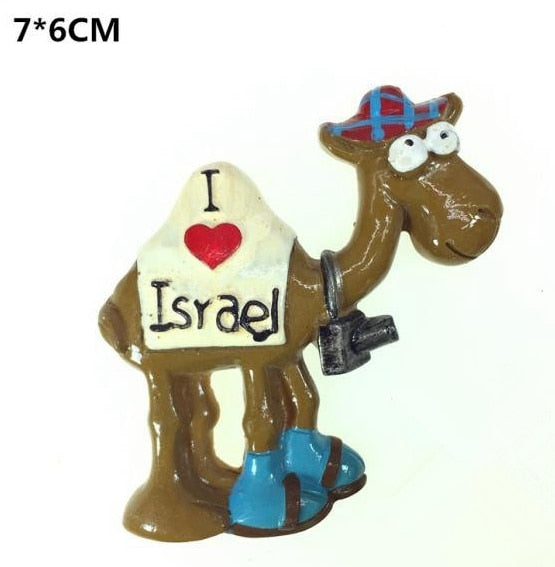 Israel The Ancient City Of Jerusalem Seven Candlesticks 3D Fridge Magnet Travel Souvenir Refrigerator Magnetic Stickers