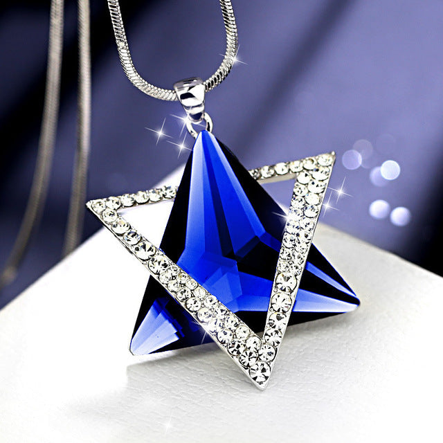 Luxury Crystal David Star Pendants Necklaces | Shop Latest Jewelry Accessories | Judelry.com