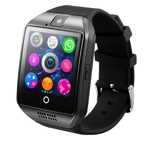 Bluetooth Smart Watch men Q18 With Camera Facebook Whatsapp Twitter Sync SMS Smartwatch Support SIM TF Card For IOS Android | Shop Latest Jewelry Accessories | Judelry.com