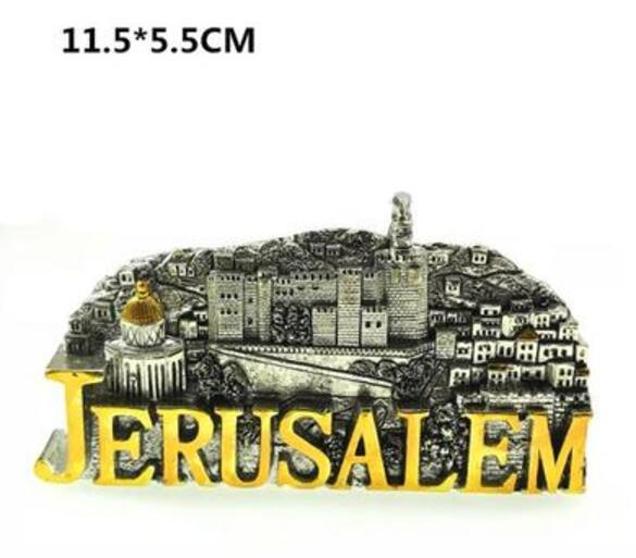 Israel The Ancient City Of Jerusalem Seven Candlesticks 3D Fridge Magnet Travel Souvenir Refrigerator Magnetic Stickers | Shop Latest Jewelry Accessories | Judelry.com