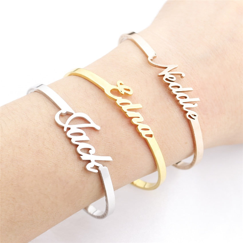 Personalized Hand Link  Bracelets Bangle | Shop Latest Jewelry Accessories | Judelry.com