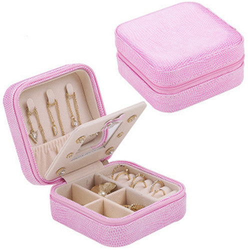 Jewelry Box Travel Comestic Jewelry Casket Organizer Makeup Lipstick Storage Box Beauty Container Necklace Birthday Gift | Shop Latest Jewelry Accessories | Judelry.com