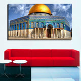 Modern landscape Canvas Art Painting Jerusalem Building Golden Rock Grand Mosque Muslim Poster Wall Pictures for Bedroom Decor | Shop Latest Jewelry Accessories | Judelry.com