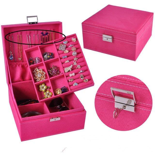 guanya brand style 4 color practical flannel jewelry box ,jewelry display earrings necklace pendant Storage Container case Gift | Shop Latest Jewelry Accessories | Judelry.com