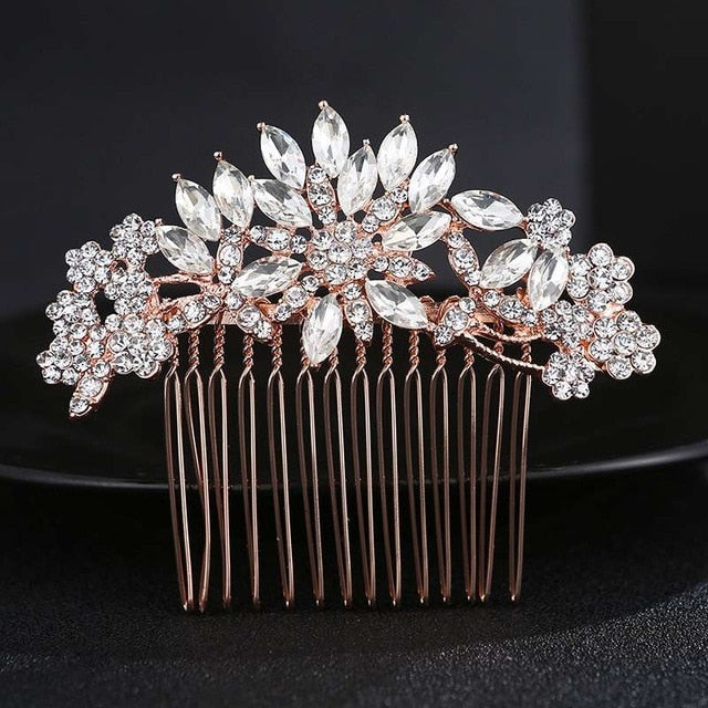 Handmade Bridal Hair Combs / Pins - Crystal | Shop Latest Jewelry Accessories | Judelry.com
