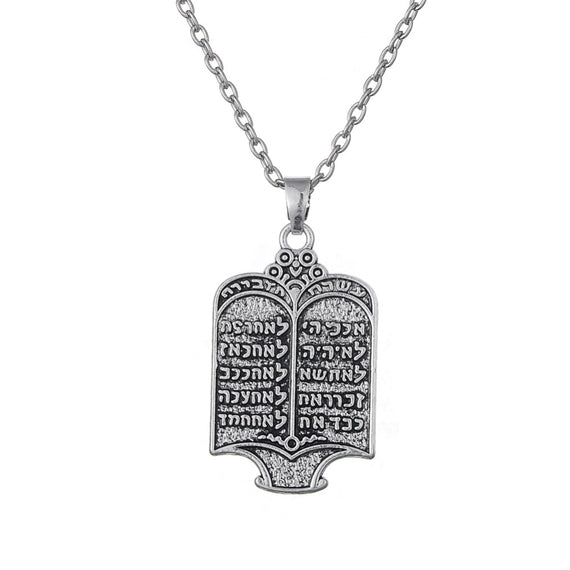 EUEAVAN 30pcs Jewish Torah Scroll 10 Commandments Pendant Necklace Ethnic Jewelry Amulet Gift For Men Women | Shop Latest Jewelry Accessories | Judelry.com