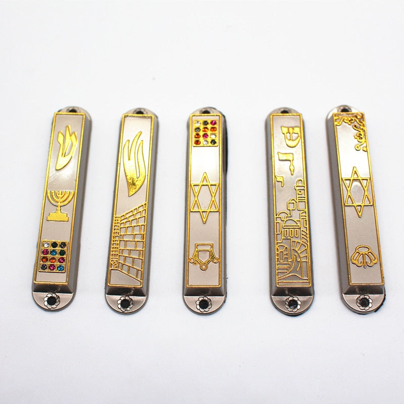Metal Decalogue/Torah/Bible Design Jewish Religion Mezuzah | Shop Latest Jewelry Accessories | Judelry.com