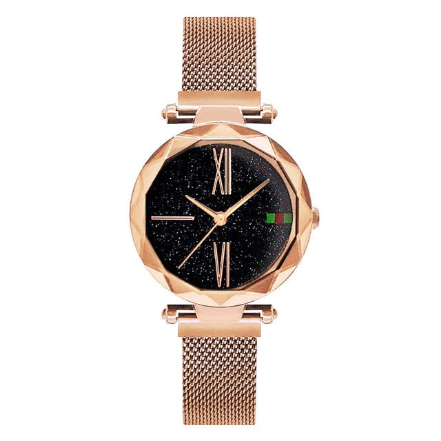Women Casual Watches Black Stylish Starry Sky Magnet Buckle Elegant Lady Watch Fashion Hot Women Gift Clock School Student | Shop Latest Jewelry Accessories | Judelry.com