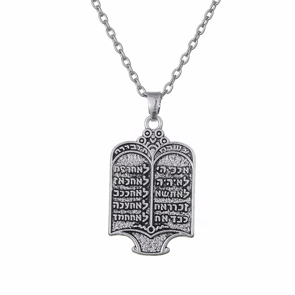 Lemegeton Men Necklace Jewish Torah Scroll 10 Commandments Pendant Necklace Imitation Book Locket Necklace Jewelry | Shop Latest Jewelry Accessories | Judelry.com
