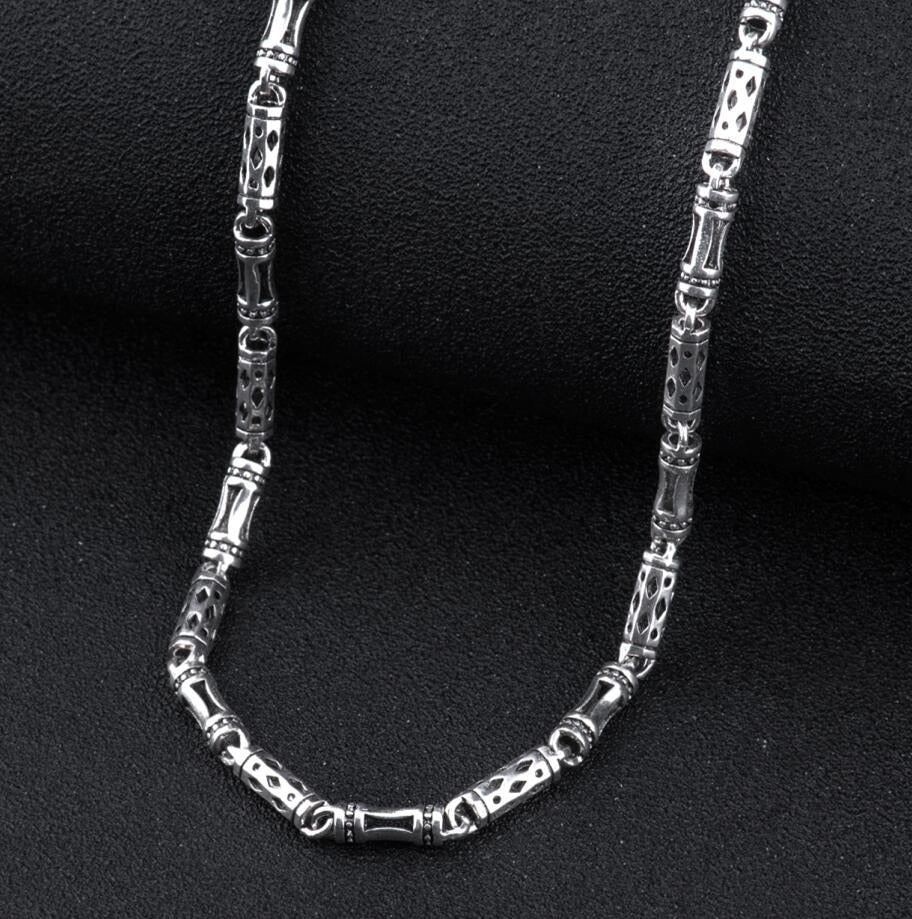 925 sterling silver men's long thick cross link chain necklace retro fashion thai silver jewelry (HY) | Shop Latest Jewelry Accessories | Judelry.com