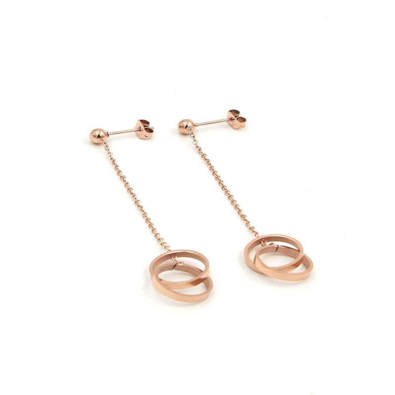 stainless steel rose gold earrings Design | Shop Latest Jewelry Accessories | Judelry.com