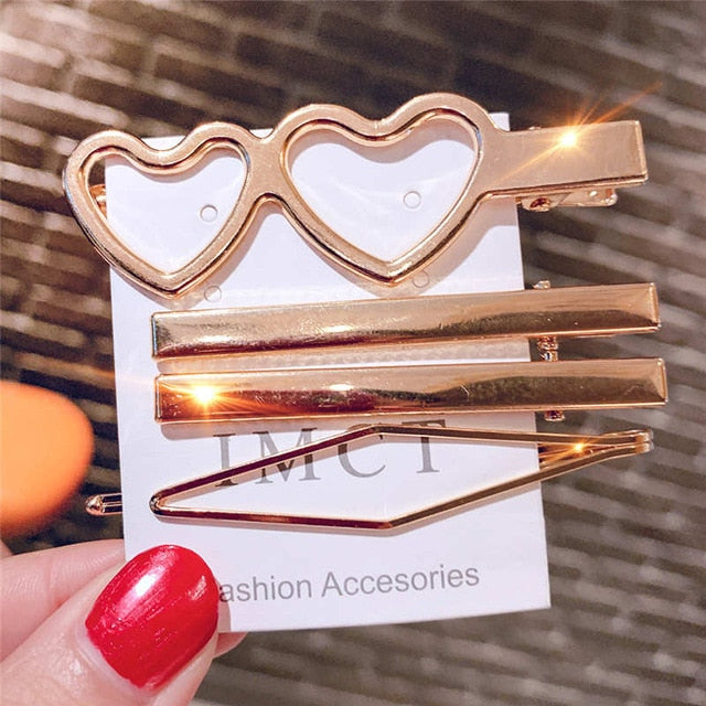 3pcs / set Metal Hair Clips Women Hairpin Girls Hairpins Pin Bobby Pin Hairpin Hair Accessories Dropship New Arrival | Shop Latest Jewelry Accessories | Judelry.com