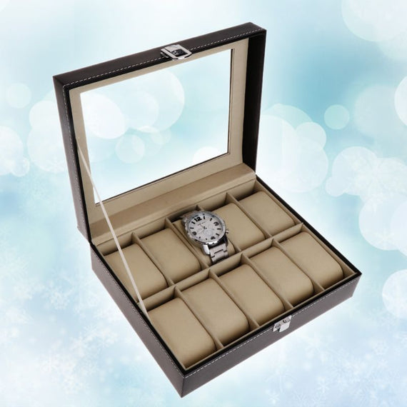 Stylish Watches Box Orgniser 10 Slot - Leather Cover | Shop Latest Jewelry Accessories | Judelry.com