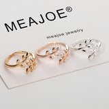 Charms Two colors Olive Tree Branch Leaves Open Ring for Women Girl Wedding Rings Adjustable Knuckle Finger Jewelry | Shop Latest Jewelry Accessories | Judelry.com
