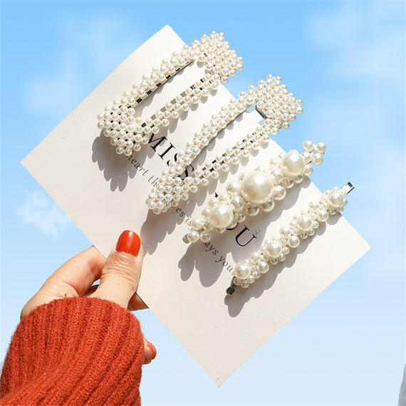 Korea Pearl Barettes - Hairgrips | Shop Latest Jewelry Accessories | Judelry.com